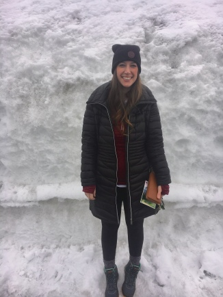 The snow was taller than me!